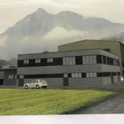 Visualisierung des geplanten Schlachthauses an der Kernser Industriestrasse. (Visualisierung: PD)