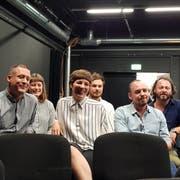 Der neue Vorstand (v. l.): Marc Schwegler, Nina Laky, Selina Beghetto, Samuel Konrad, Thomas Duss und Patrik Zumbühl. (Bild: Julia Stephan (Kriens, 29. August 2018)