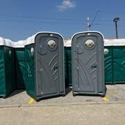 Am St.Galler Fest stehen etwa 90 WC-Häuschen im Einsatz. (Bild: PD)