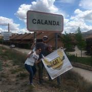 Der Stausee nahe der Ortschaft Calanda ist nicht etwa mit Bier gefüllt. (Bild: Daniel Baldegger)