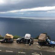 Schlafplatz mit spektakulärer Aussicht für das Team Slàinte und zwei weitere Teams. (Bild: Daniel Baldegger)