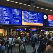 Bahnhof Bern, Donnerstag Abend: Fast nichts geht mehr. (Bild: CHMedia)