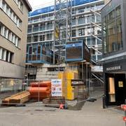 Die ehemalige Metro-Boutique wird umgebaut. (Bild: Daniel Wirth)
