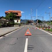 Die Brünigstrasse zwischen Giswil und Kaiserstuhl ist nach mehrstündiger Sperrung wieder offen. (Bild: Kantonspolizei Obwalden)