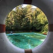 Das Naturbad Oberschan ist noch bis Ende Monat offen. (Bild:Jessica Nigg)