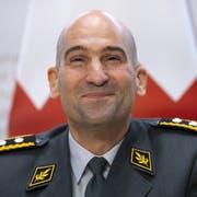 Thomas Süssli am Mittwoch an der Medienkonferenz nach der Ernennung zum neuen Armeechef. (Bild: Keystone, Peter Klaunzer)