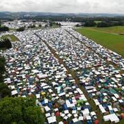 Wenn tausende Zelte die Frauenfelder Allmend belagern. (Bild: Reto Martin, 5. Juli 2018)