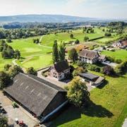 Entlang des Parkplatzes des Golfplatzes könnten fünf neue Baukörper entstehen. (Bild: Reto Martin)