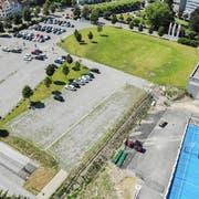 Auf dem Areal zwischen Bärenplatz und Dreispitzhalle ist das neue Verwaltungsgebäude geplant. (Bild: Reto Martin)