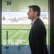Ciriaco Sforza ist der neue Cheftrainer des FC Wil. Der 49-jährige Aargauer unterschreibt bis 2022. Bild: Urs Bucher (Wil, 1. April 2019)