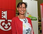 Monika Rüegger am Tag ihrer Nomination durch die Kantonalpartei. (Bild: Bild Robert Hess, Alpnach, 14. Juni 2019)