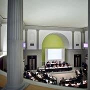 Die Synode der reformierten Kirche Kanton Luzern tagt im Kantonsratssaal des Regierungsgebäudes in Luzern. Die Frage, ob Pfarrpersonen künftig nicht mehr vom Volk gewählt werden, spaltet die Landeskirche. (Bild: Pius Amrein)