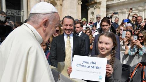 Besuch beim Papst im Frühjahr 2019. (Bild: VATICAN MEDIA HANDOUT)