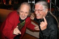 Düde Dürst (links) und Toni Vescoli. (Bild: Sepp Odermatt (Hergiswil, 10. November 2018))