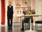 Fredy Duss (links) und Ivo Lackner sind nicht nur auf der Littauer Theaterbühne ein eingespieltes Team. (Bild: Yvonne Imbach, Littau, 9. Mai 2019)