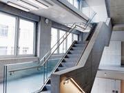 Das Treppenhaus des Trakts 5. (Bild: Werner Schelbert (Zug, 5. Juli 2018))