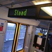 Seit dem Fahrplanwechsel im Dezember spinnt die Anzeige in der S3 Richtung St.Margrethen. (Bild: Sandro Büchler)