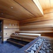 Der Saunabereich. Bild: Werner Schelbert (Oberägeri, 3. August 2018)
