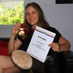 27. März: Lorina Zelger aus Gams gewann in Saint-Luc den Junioren Schweizer Meistertitel im Riesenslalom. Einen Monat später erfolgte die Selektion ins B-Kader von Swiss Ski. Bild: Robert Kucera