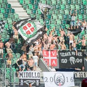 Wie viele Fans des FC Lugano werden sich am Donnerstag im Kybunpark einfinden? (Archivbild: Urs Bucher)