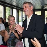 Der frisch gewählte Emmer Gemeinderat am Sonntag im Restaurant Prélude. (Bild: Eveline Beerkircher (Emmen, 23. September 2018))