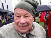 Armin James Bont, 77-jähriger Teilnehmer.