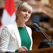 Diana Gutjahr hat am 27. November 2017 den Nationalratssitz von Hansjörg Walter übernommen. (KEYSTONE/Peter Klaunzer)