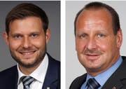 Florian Hunziker und Hansueli Reutegger. Bild: PD