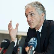 Bundesanwalt Michael Lauber an einer Medienkonferenz am 21. November 2018 in Bern. (KEYSTONE/Peter Schneider)