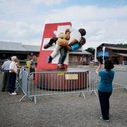 Die Skulptur auf dem Stierenmarkt ist ein beliebtes Fotosujet. (Bild: Stefan Kaiser)