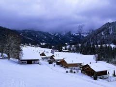 Eigenthal zeigt sich im schneeweissen Winterkleid. (Bild: Urs Gutfleisch (9. Januar 2019))