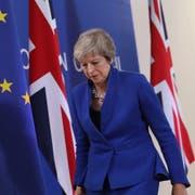 Premierministerin Theresa May am Brexit-Sondergipfel in Brüssel. (Bild: Sean Gallup/Getty (25. November 2018))