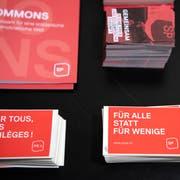 Wahlunterlagen der SP Kanton Bern. Bild: Peter Schneider/Keystone (20. März 2019)