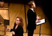 Dirigentin Emmanuelle Haïm und Tim Mead (Countertenor).