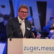 CVP-Regierungsrat Beat Villiger bei der Eröffnung der letztjährigen Zuger Messe.(Bild Roger Zbinden (21.Oktober 2017))