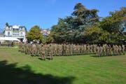 Die Soldaten stehen in Reih und Glied (Bild: PD, Pully, 12. Oktober 2018)