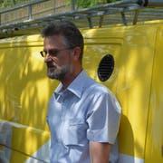 Roman Kistler, Leiter der Jagd- und Fischereiverwaltung, informiert in Schaffhausen. (Bild: David Grob)