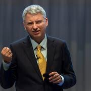 Roche-Konzernchef Severin Schwan an der Bilanzmedienkonferenz. (Bild: Georgios Kefalas/Keystone, Basel, 31. Januar 2019)