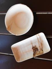 Auch das Palmblattgeschirr soll durch eine nachhaltigere Lösung ersetzt werden. (Bild: Urs M. Hemm)
