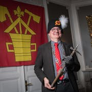 Reto Schriber ist Zunftmeister 2019 der Zunft zu Safran und Fritschivater. (Bild: Boris Bürgisser (Luzern, 5. Januar 2019))