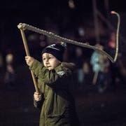 Geisslechlöpfe ist ein traditioneller Brauch in unserer Region. Jedes Jahr findet für die Kinder in Kriens der Geisslechlöpfer-Kurs beim Schulhaus Meiersmatt statt. (Bild: Pius Amrein (Kriens, 19. November 2018))
