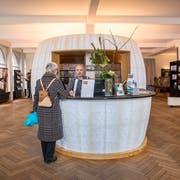 Schalter von St.Gallen-Bodensee Tourismus in der Stadt St.Gallen (Bild: Urs Bucher)