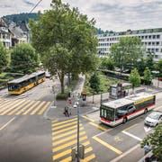 Der Heimatschutz schlägt entlang der Poststrasse und dem Oberen Graben ein konkretes Bepflanzungskonzept vor. (Bild: Urs Bucher)