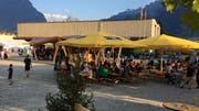 Bereits am Freitag waren gut 2000 Gäste in Flüelen. (Bild: Elias Bricker, 5. Juli 2019)