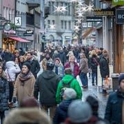 Der erste Sonntagsverkauf im Advent lief etwas besser als der letztjährige. (Bild: Michel Canonica)