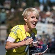 Die Speakerin Simone Honegger wird am Sonntag die Läuferinnen und Läufer des St.Galler Stadtlaufs motivieren. (Bild: Michel Canonica)