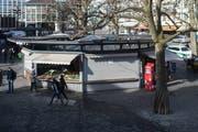 Die Rondelle auf dem St.Galler Marktplatz stammt vom Anfang der 1950er-Jahre. (Bild: Benjamin Manser - 7. März 2015)