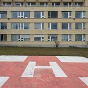 Keine Eile mit den Bauarbeiten: Spital Altstätten. (Luca Linder)