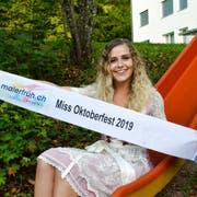 Veronica Martins, Miss Oktoberfest Tannzapfenland 2019. Für ihr Amt sowie für jenes der Muschelfee mangelte es bisher nicht an Kandidatinnen. (Bild: Christoph Heer)