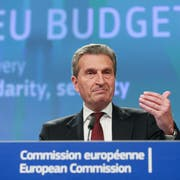 EU-Haushaltskommissar Günther Oettinger. (Stephanie Lecoco/EPA)